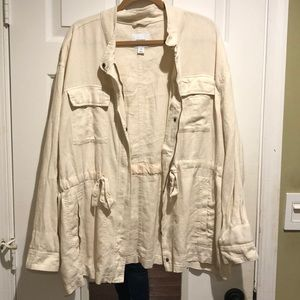 Old navy linen utility jacket